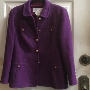 Vintage Escada plum jacket Sz 40